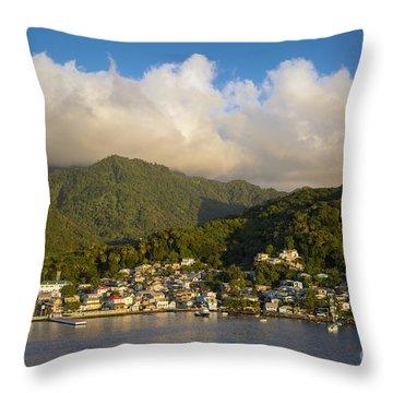 Soufriere - St Lucia Throw Pillow