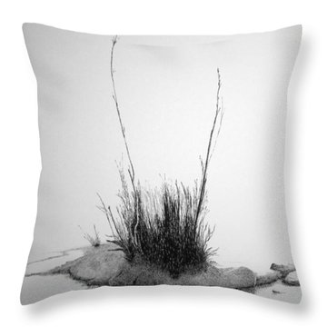 Throw Pillow featuring the painting Soul Etude by A  Robert Malcom