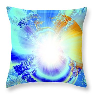 Soul Expansion Throw Pillow by Ute Posegga-Rudel