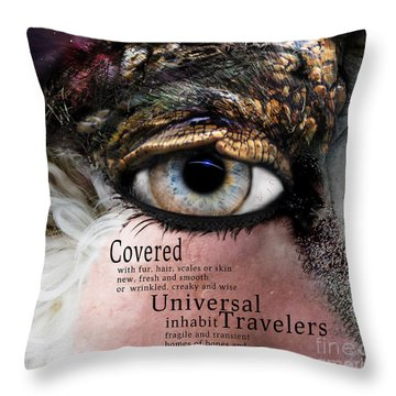 Soul Full Eye Of The Universal Traveler Throw Pillow