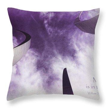 Soul In The Sky - Us Air Force Memorial Throw Pillow