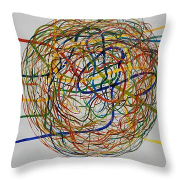 Throw Pillow featuring the painting Soul Journey 1 by Tim Mullaney