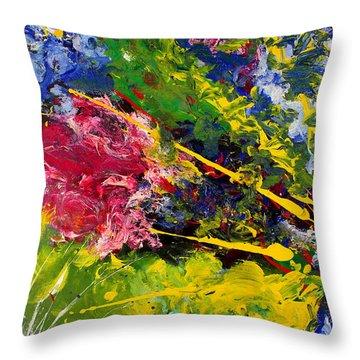 Modern Contemporary Diptych Part 1 Throw Pillow