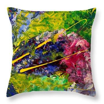 Modern Contemporary Diptych Part 2 Throw Pillow