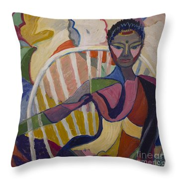 Soul Portrait Throw Pillow by Avonelle Kelsey