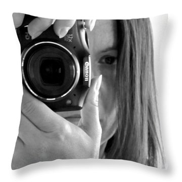 Soul-searching - Self-portrait Throw Pillow
