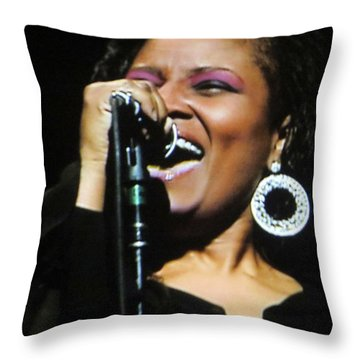 Soul Singer Throw Pillow by Aaron Martens