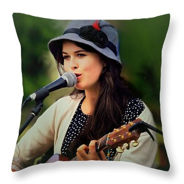 Throw Pillow featuring the photograph Soul Sister by Wallaroo Images