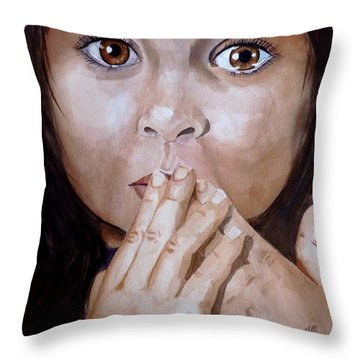 Soul Tears Throw Pillow