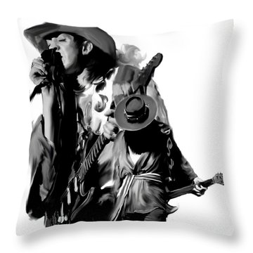 Soul To Soul  Stevie Ray Vaughan Throw Pillow by Iconic Images Art Gallery David Pucciarelli