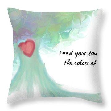 Soul Tree  Throw Pillow