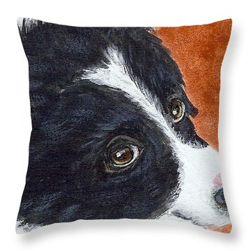 Soulful Eyes Throw Pillow