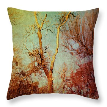 Souls Of Trees Throw Pillow
