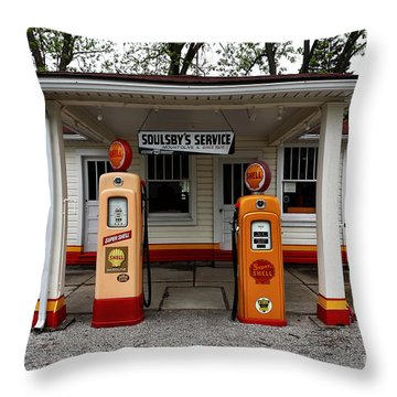 Soulsby's Service Throw Pillow by John Rizzuto