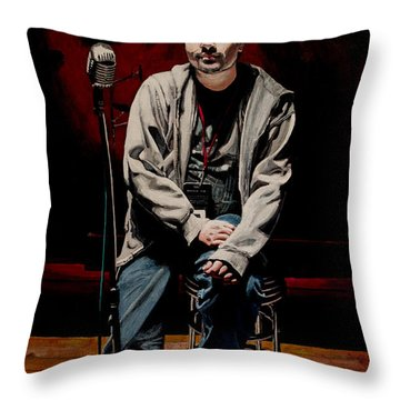 Sound Check Throw Pillow by Patricio Lazen