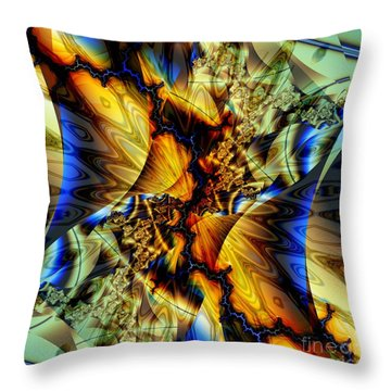 Sound Of Blue Lightning  Throw Pillow by Elizabeth McTaggart