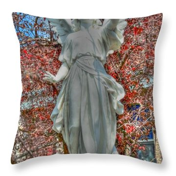 Sound The Trumpet Throw Pillow by Kathleen Struckle