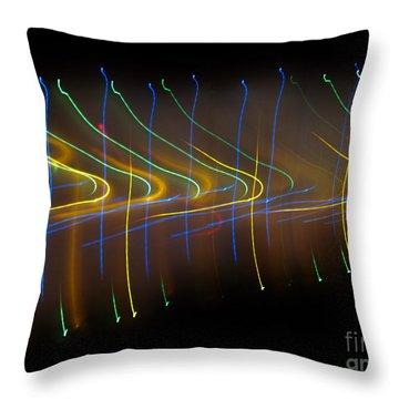 Soundcloud. Dancing Lights Series Throw Pillow by Ausra Huntington nee Paulauskaite