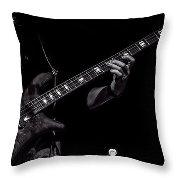 Sounds In The Night Bass Man Throw Pillow