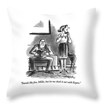 Sounds Like Fun Throw Pillow