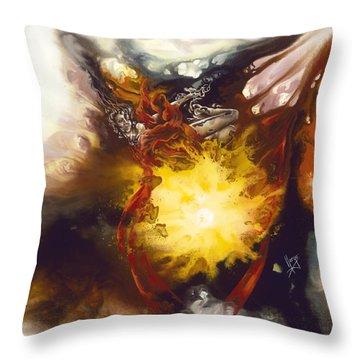 Disintegration Throw Pillows