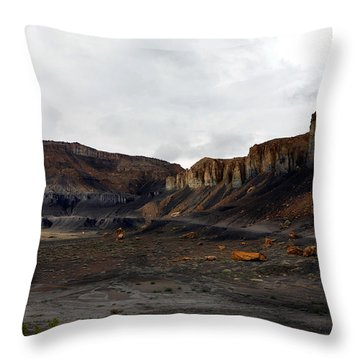 Source Of The Mud Flood Throw Pillow by Lon Casler Bixby