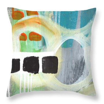 South- Abstract Expressionist Art Throw Pillow