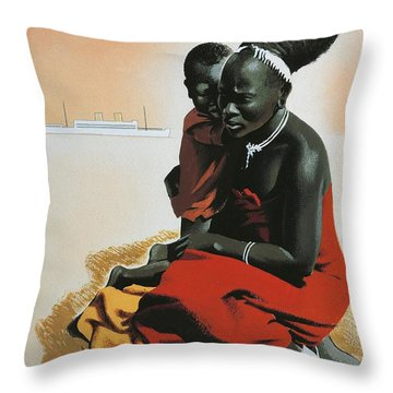 South Africa  Throw Pillow by Anonymous