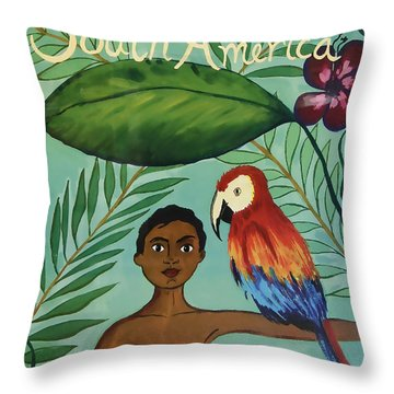 South America United Airlines Throw Pillow