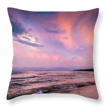 South Beach Clouds Throw Pillow