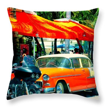 South Beach Flavour Throw Pillow by Karen Wiles