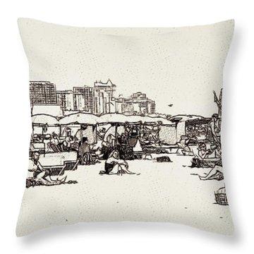 South Beach Miami Throw Pillow