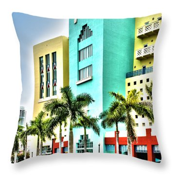 South Beach Throw Pillow by Michelle Wiarda