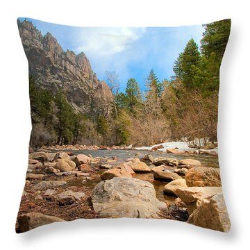 South Boulder Creek - Eldorado Canyon State Park Throw Pillow