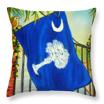 South Carolina - A State Of Art Throw Pillow