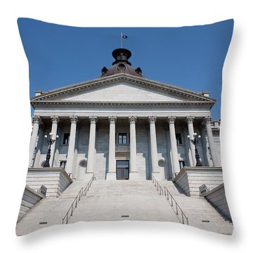 South Carolina State Capital Building Throw Pillow