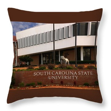 Throw Pillow featuring the photograph South Carolina State University 2 by Bob Pardue
