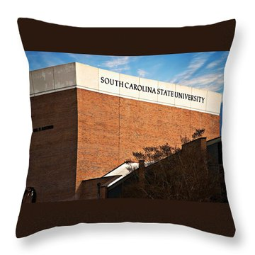 Throw Pillow featuring the photograph South Carolina State University by Bob Pardue