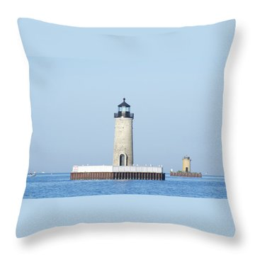 South Channel Lights Throw Pillow