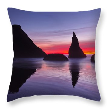 South Coast Reds Throw Pillow by Darren  White