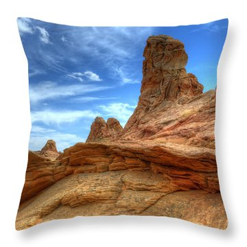 South Coyotte Buttes 8 Throw Pillow by Bob Christopher