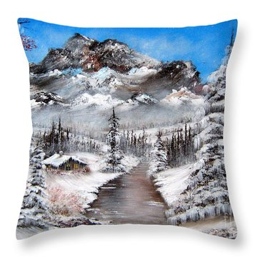 Throw Pillow featuring the painting South Dakota Morning by Patrice Torrillo