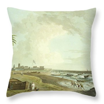 South East View Of Fort St. George Throw Pillow