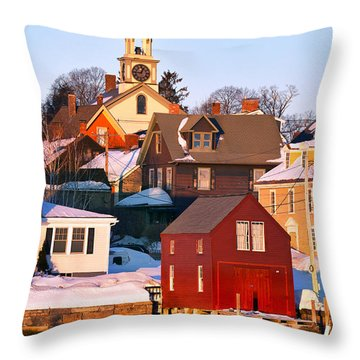 South End Boathouse Throw Pillow