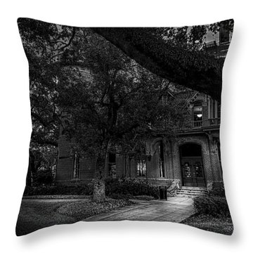 South Entry Black And White Throw Pillow by Marvin Spates