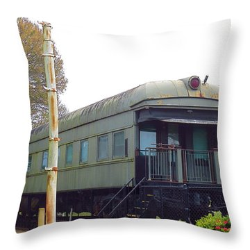 South Florida Museum Of History. Ft. Myers Florida Private Train Car. Throw Pillow
