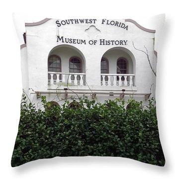South Florida Museum Of History. Ft. Myers Florida. Throw Pillow