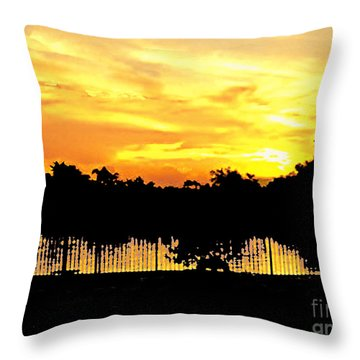 Throw Pillow featuring the photograph South Florida Sunset No.9  by Merton Allen