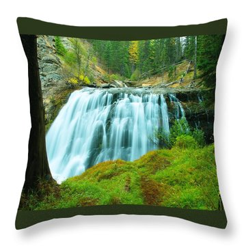 South Fork Falls  Throw Pillow by Jeff Swan