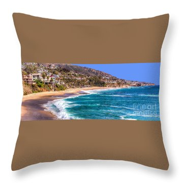 South Laguna Beach Coast Throw Pillow